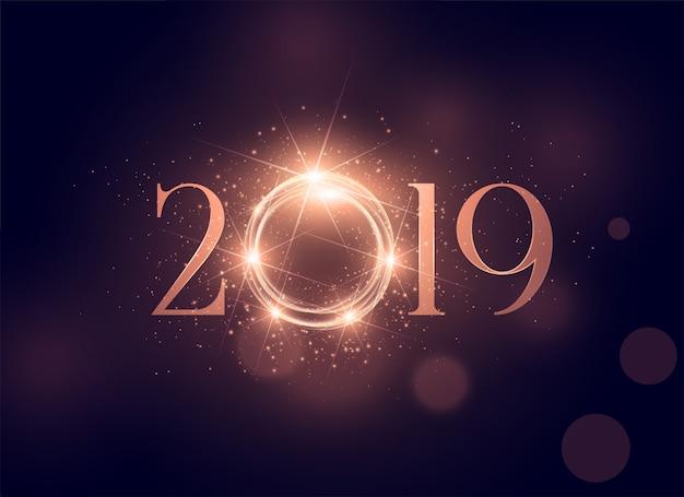 Красивый светящийся 2019 блестящий фон