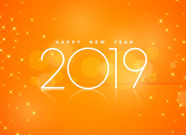 美しいオレンジ2019幸せな新年の背景