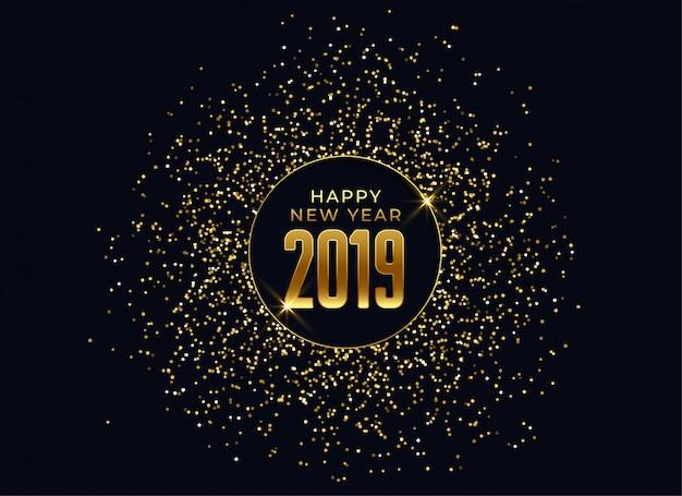 2019幸せな新年の祝賀の背景