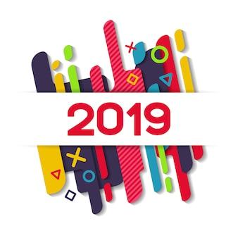 С новым годом 2019 современный фон