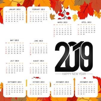 2019 календарь с легким фоном
