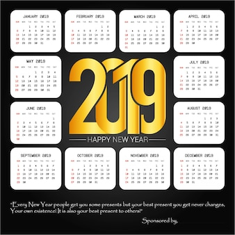2019 дизайн с черным фоном
