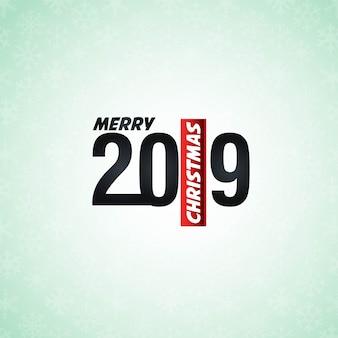 2019新しい年のタイポグラフィデザインベクトル