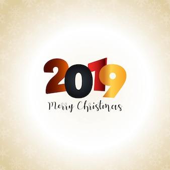 2019 год новый типографский дизайн