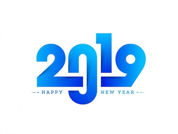 新しい年2019の背景。