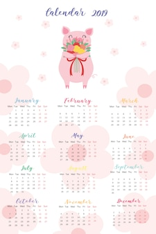 カレンダー2019。