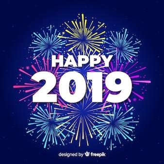 Счастливый 2019 фон
