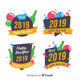 2019年新年のラベルセット
