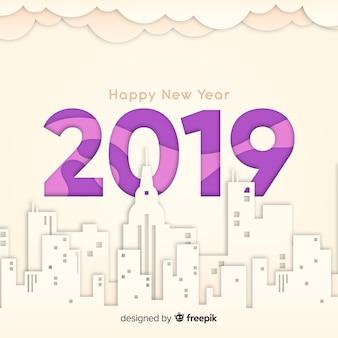 新年2019背景紙のスタイル