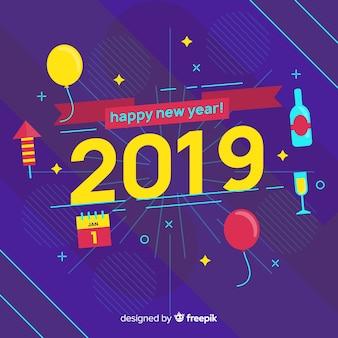 新しい年2019の背景
