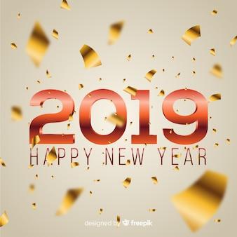 Конфетти новый год 2019 фон