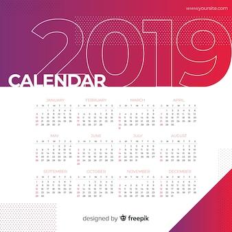 2019カレンダー