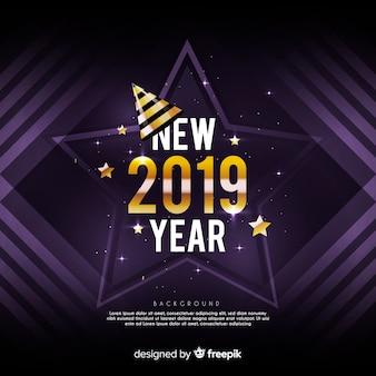 Золотой новый год 2019 фон