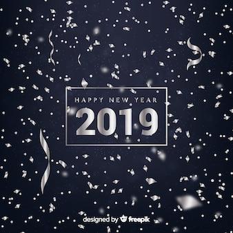 紙吹雪新年2019背景