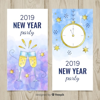 2019年の新年パーティーバナー