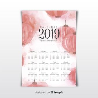 中国のカレンダー2019