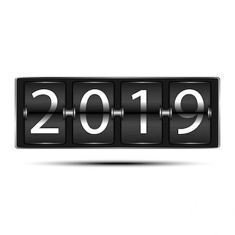 2019年のスコアボードで新年を祝う
