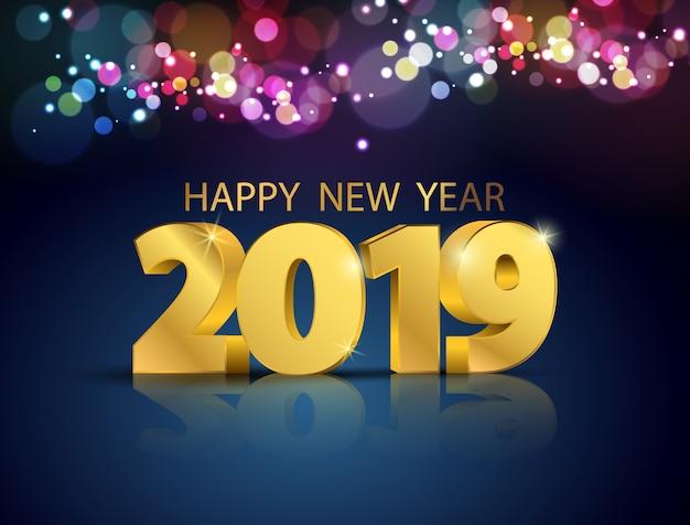 2019 с новым годом концепции.