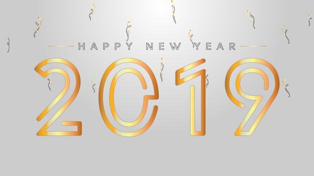 2019年の新年の背景