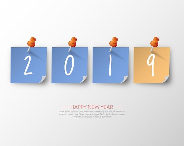 2019 современный шаблон календаря