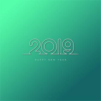 幸せな新年2019デザイン
