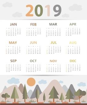 Простой календарь 2019