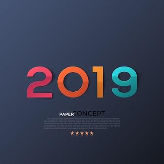 新しい2019年の祝賀ポスター