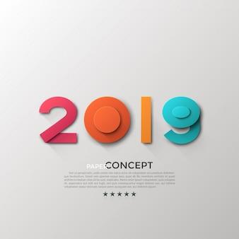 新しい2019年の祝賀バナー
