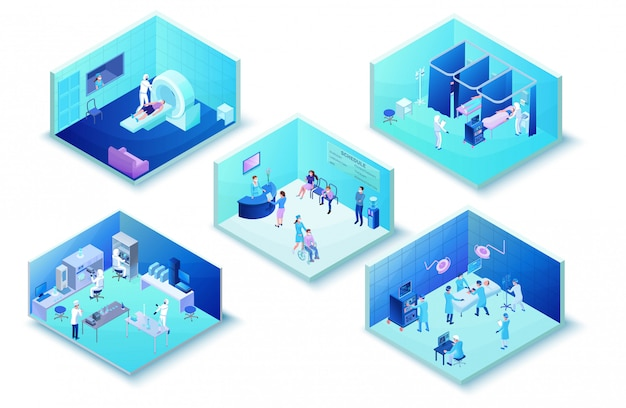 Инфографика клиники больницы с пациентами с коронавирусом 2019-нков