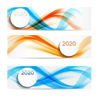 2020 abstract banner background for new year wishes
