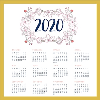 2020 calendar design ready to print