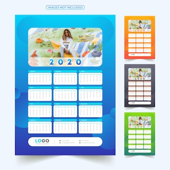 2020 calendar with image