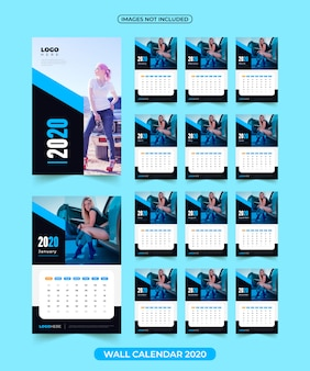 2020 calendar with images