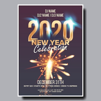 2020 christmas party flyer poster