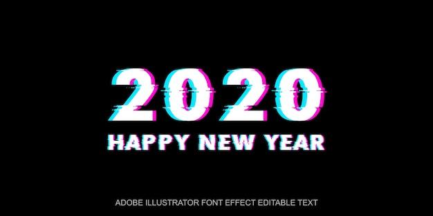 2020 editable font effect