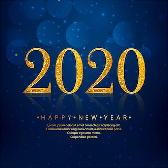 2020 golden new year blue holiday