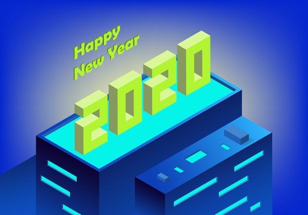 계절별 전단지 및 인사말 카드에 대한 2020 새해 복 많이 받으세요 배경