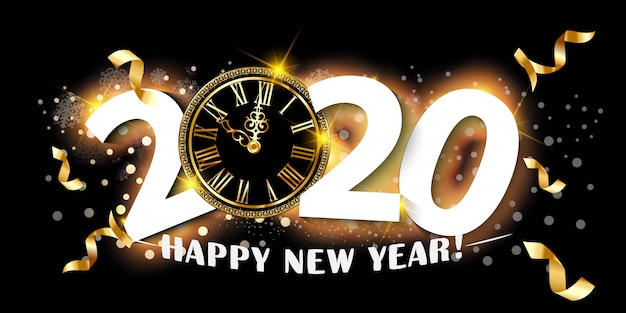 2020 happy new year background.