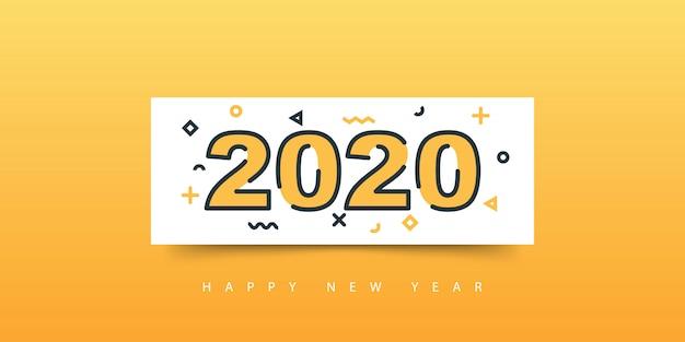 2020 happy new year banner
