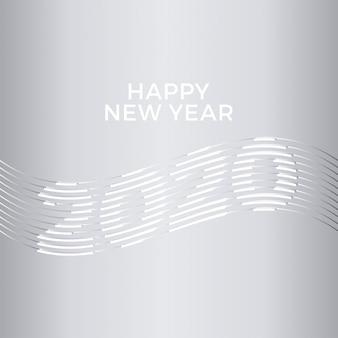 2020 happy new year creative design