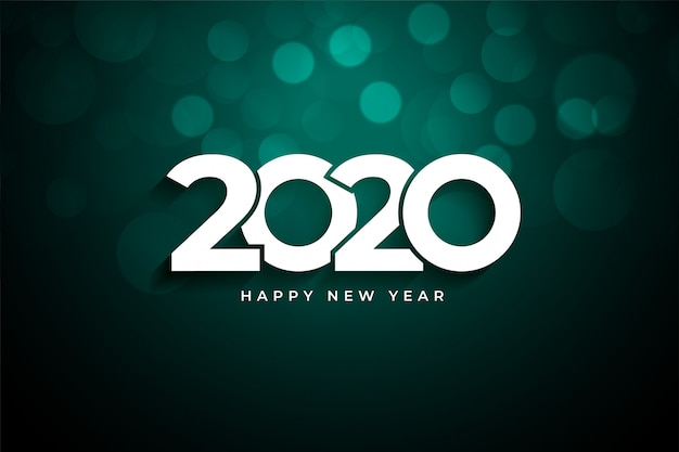 2020 happy new year creative  greeting