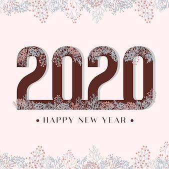 2020 happy new year flower background