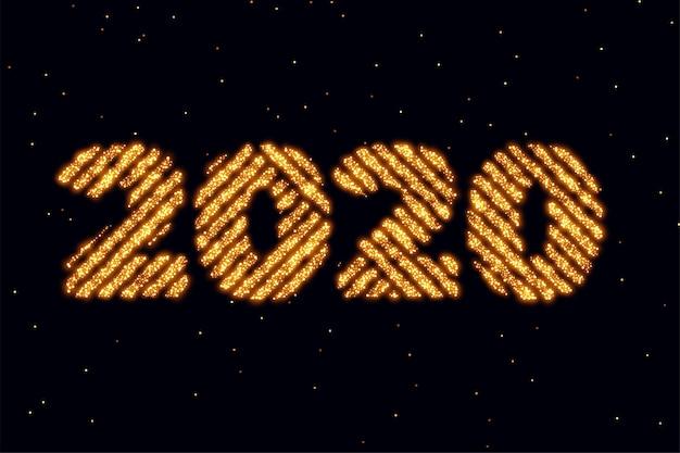 2020 happy new year glitter golden