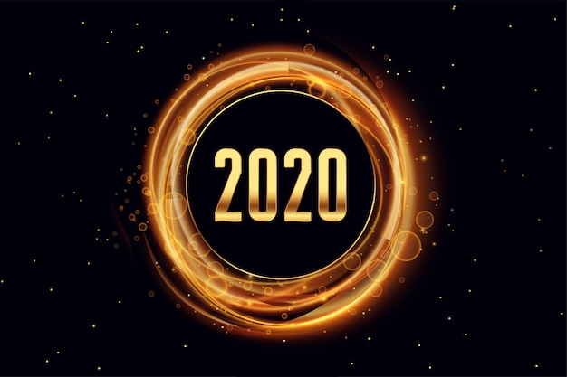 2020 happy new year light effect style background