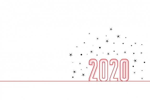 2020 happy new year minimal style background
