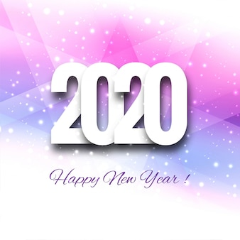 2020 happy new year sign on winter holiday