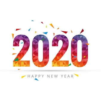 2020 happy new year text for greeting card