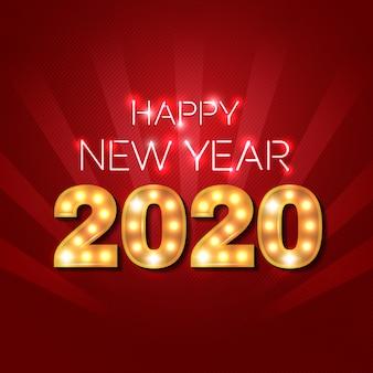 С новым годом 2020 - неоновые и marquee lights 2020