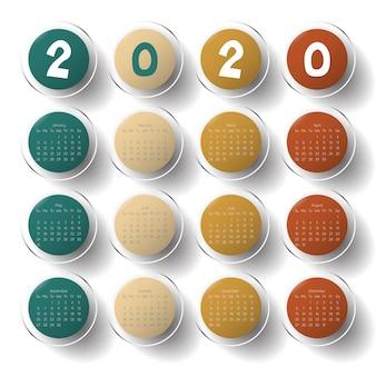 2020 modern calendar