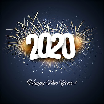 2020 new year creative colorful card